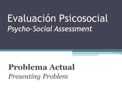 Spanish for Therapists - Assessment